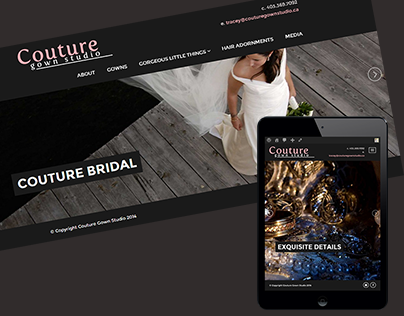 Couture website development